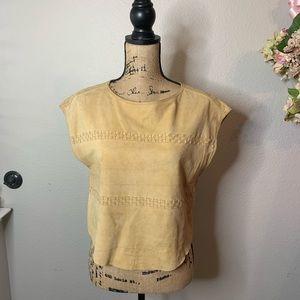 Kenar by Ann Tjian Suede Style Woven Top